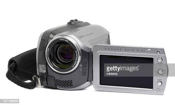 HDD digitale Kamera, isoliert auf weißem Hintergrund