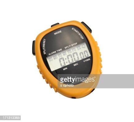 Digital Chronometer +Clipping Path