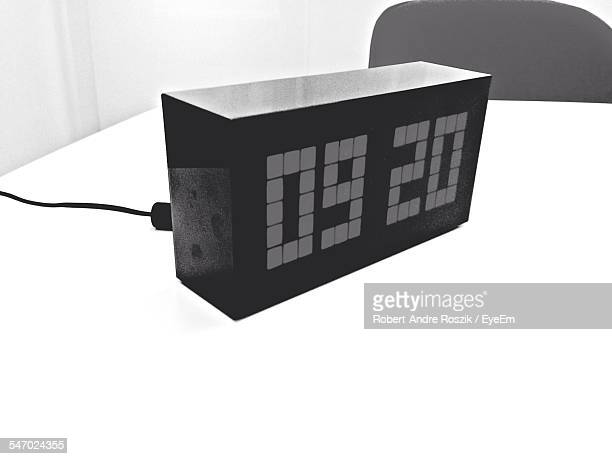 Digital Clock On Table