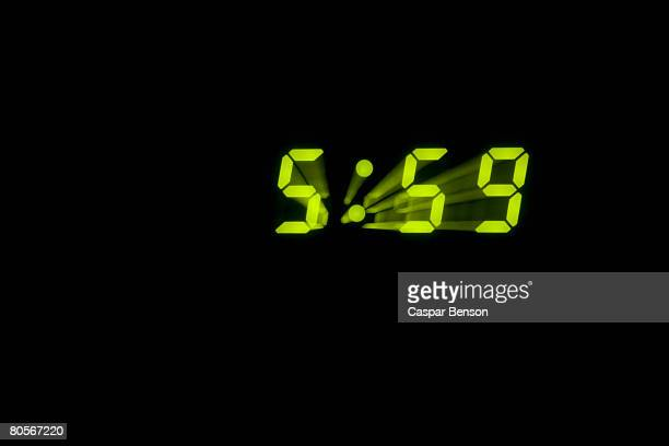 A digital clock