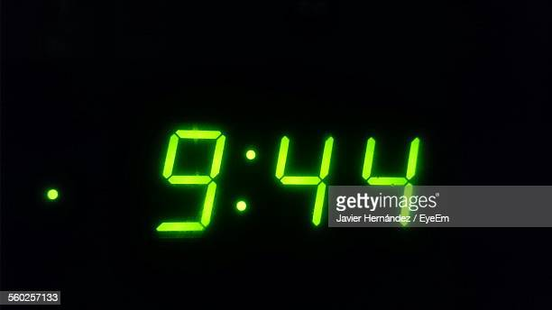 Digital Clock Showing 9:44