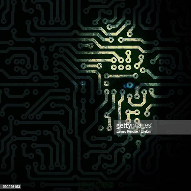Digital Composite Image Of Circuit Board