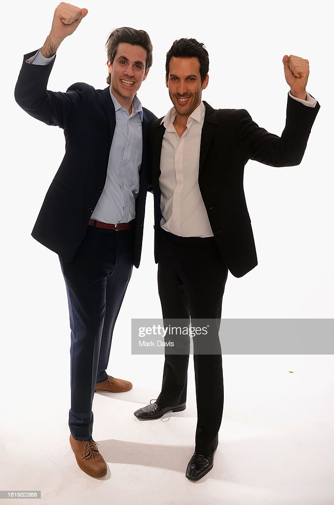 Digital Content Producer at Dick Clark Productions Assaf Blecher and VP of Digital Distribution, Dick Clark Productions Ariel Elazar pose for a portrait in the TV Guide Portrait Studio at the 3rd Annual Streamy Awards at Hollywood Palladium on February 17, 2013 in Hollywood, California.