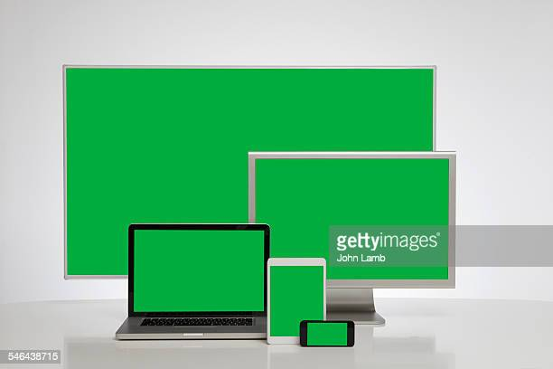 Digital devices with green screen