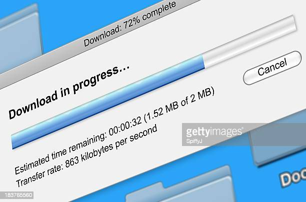 Digital file download progress bar