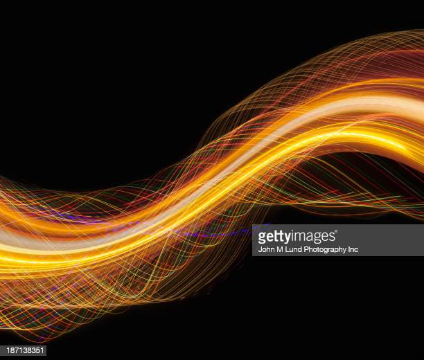Digital illustration of swirling yellow lines