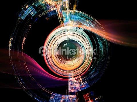Efecto de lente digital : Foto de stock