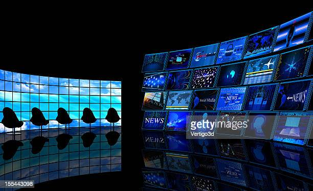 Digital News TV studio room