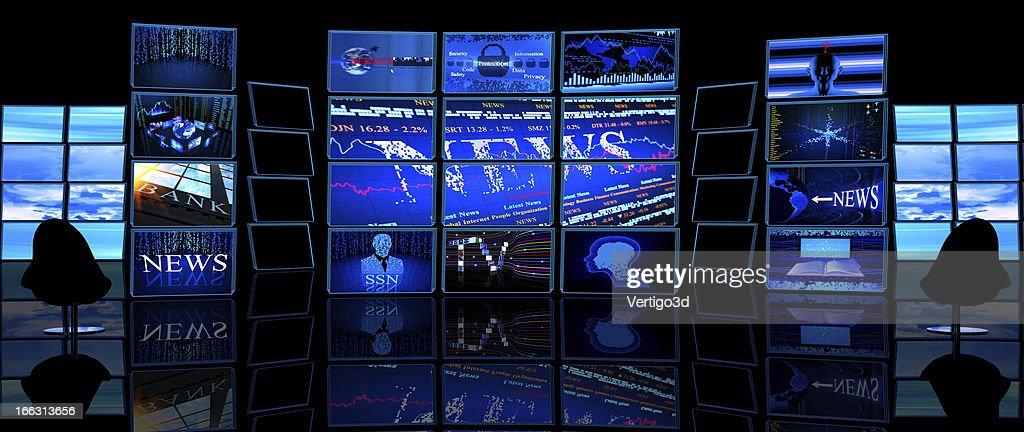 Digital News TV studio room