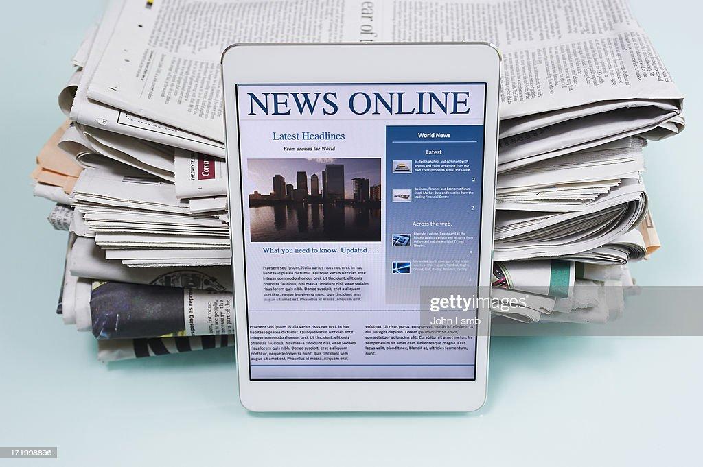 Digital newsprint : Stock Photo