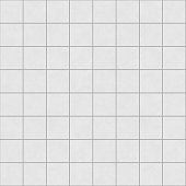 Digitally created non-realistic seamless square white tile pattern.