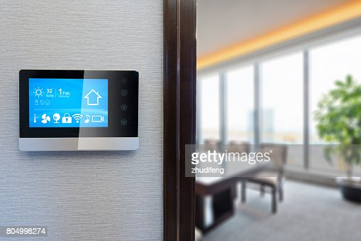 digital screen in modern meeting room : Stock Photo