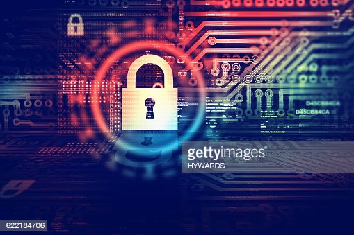 Digital security concept : Stock Photo