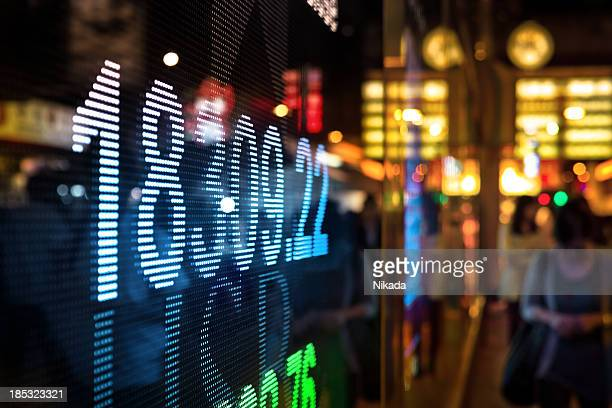 Digital stock market data display