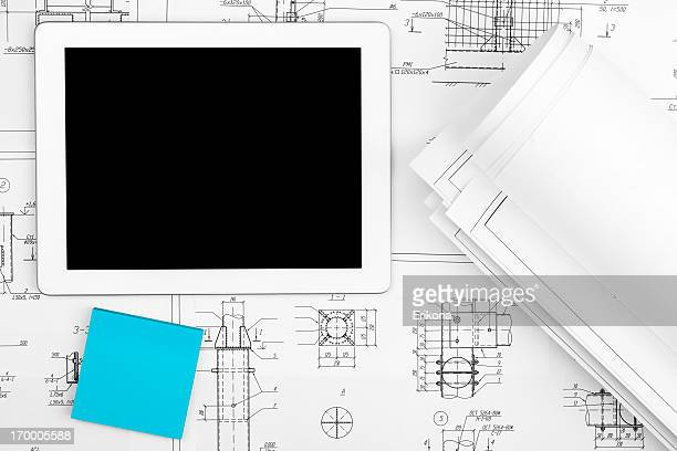 Digital Tablet and Blueprints