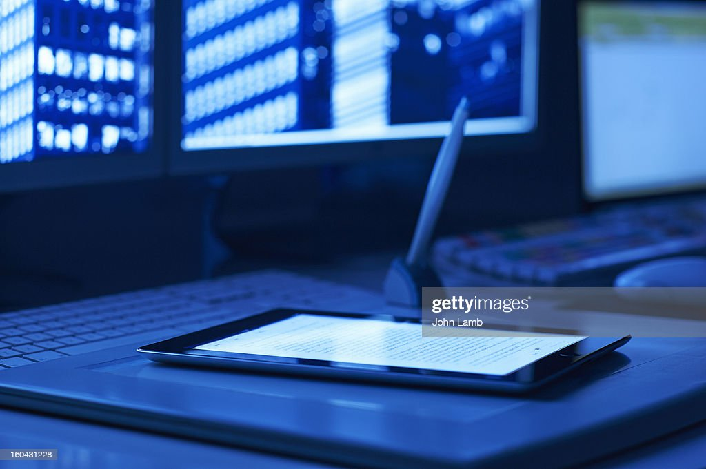 Digital Tablet at work : Stock Photo