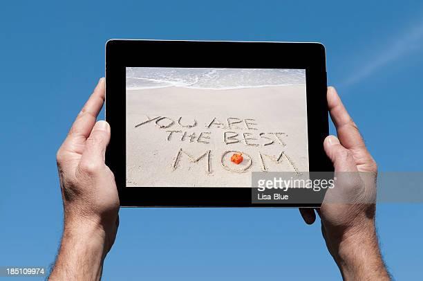 Digitale Tablet für Muttertag Blue Sky