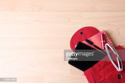 Digital Tablet in  Woman's Bag Backpack