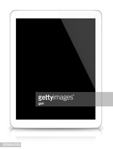 Digitale tablet auf weißem Hintergrund : Stock-Foto