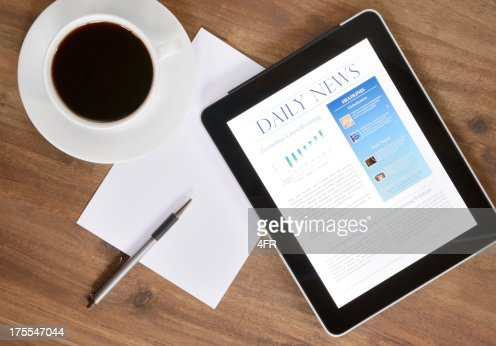 Digital Tablet PC With News On Desk (XXXL)