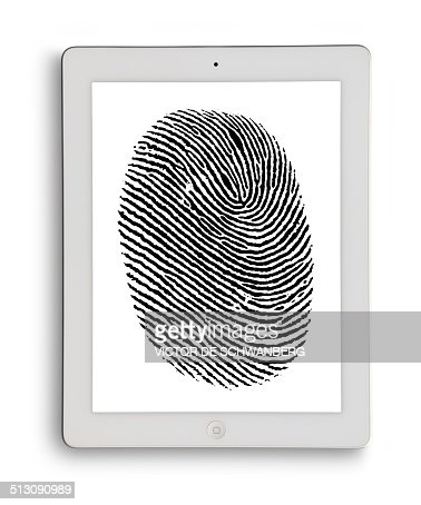 Digital tablet with finger print