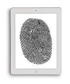 Digital tablet with finger print