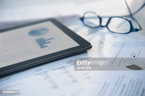 Digital tablet with stock market data