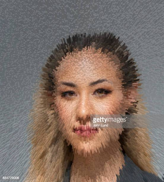 Digital Technology Woman's Portrait