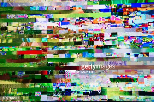 Digital television interference pattern