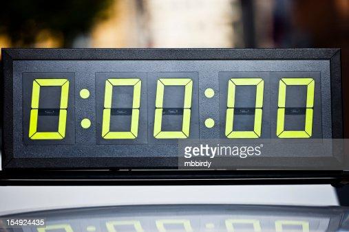 Digital timing clock on marathon
