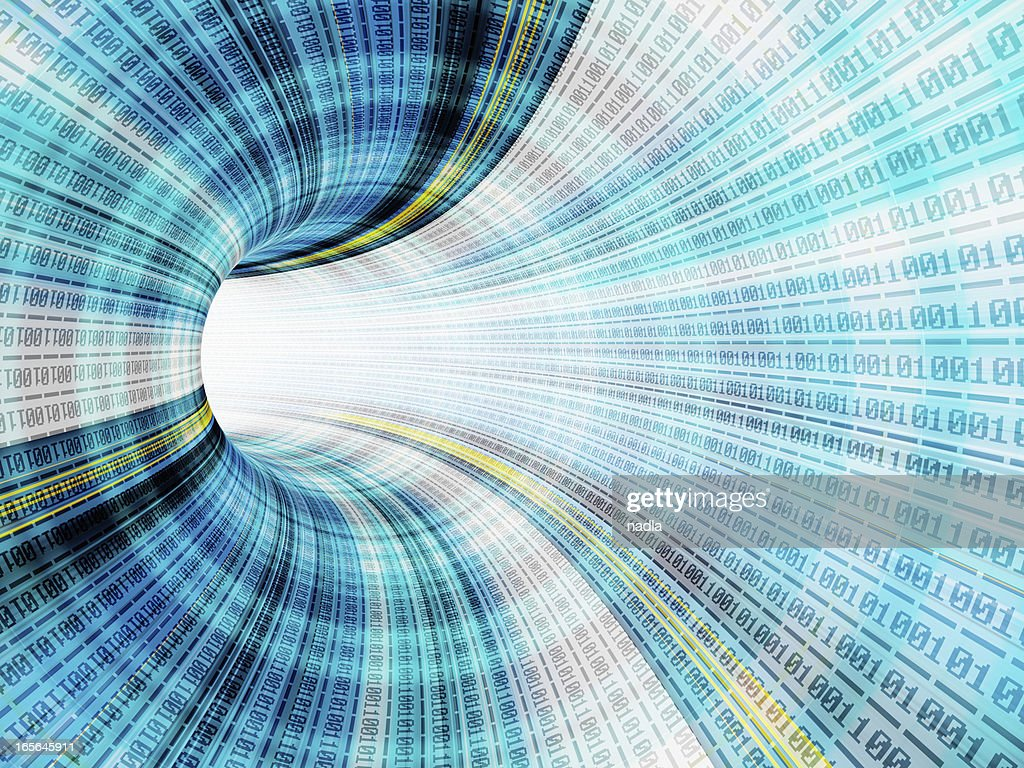 Digital tunnel : Stock Photo