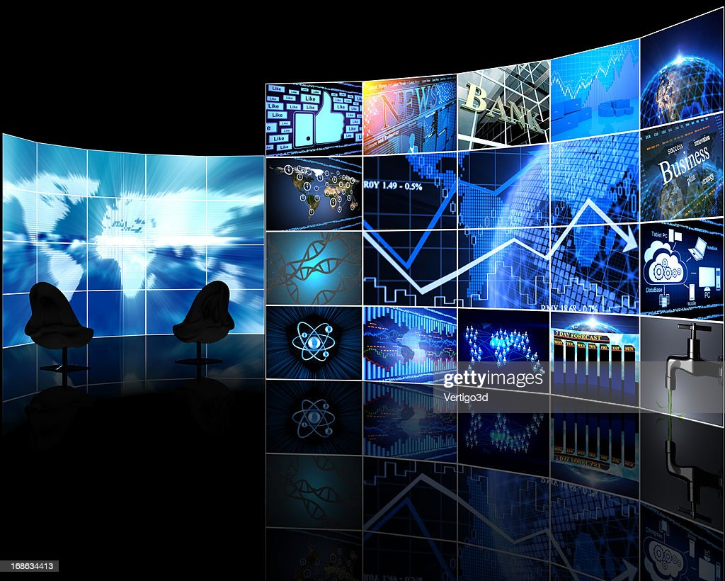 Digital Video wall with screens