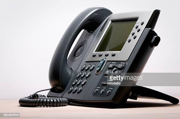 デジタル VoIP 電話、白色背景