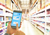Digital wallet to pay for goods and services in a superstore for easy and fast.
