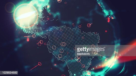 Digital World, Internet of Things and Big Data Concept : Stock Photo