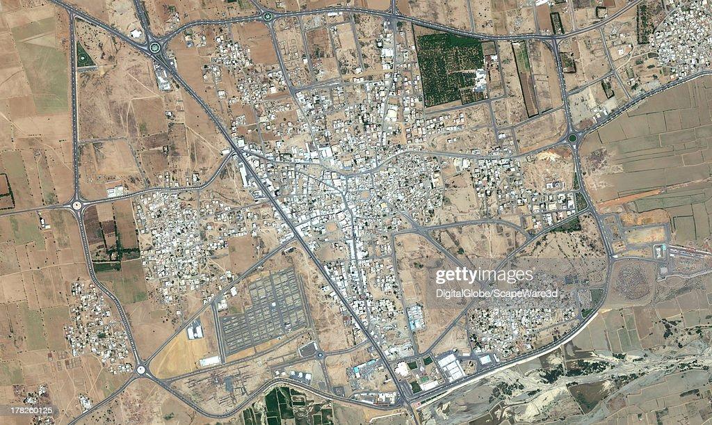 DigitalGlobe 'overview' Satellite Imagery of Ahad Al Masarihah, Saudi Arabia.