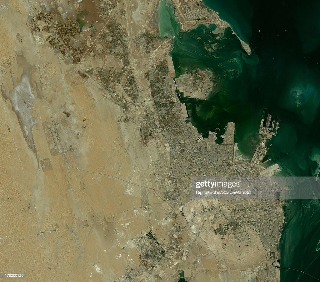 DigitalGlobe 'overview' Satellite Imagery of Dammam, Saudi Arabia.