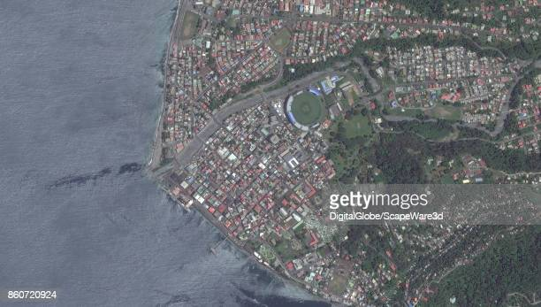 DigitalGlobe satellite image of Roseau Dominica