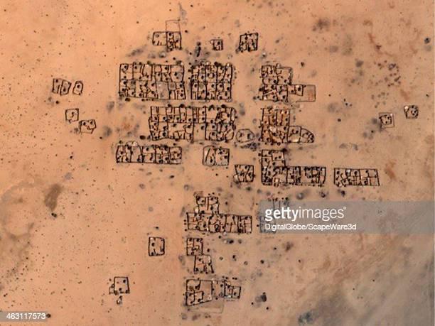 DigitalGlobe Satellite Imagery of before damage occurred to the village of Shangil in the Tobay Shadad region in Sudan Photo DigitalGlobe via Getty...