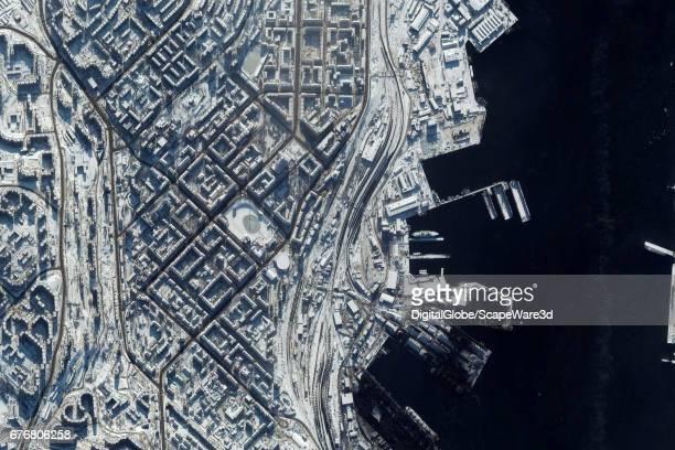 DigitalGlobe Satellite Imagery of Mumansk Russia north of the Arctic Circle