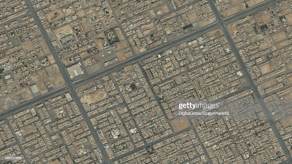 DigitalGlobe Satellite Imagery of the al-Maseef district, Riyadh, Saudi Arabia.