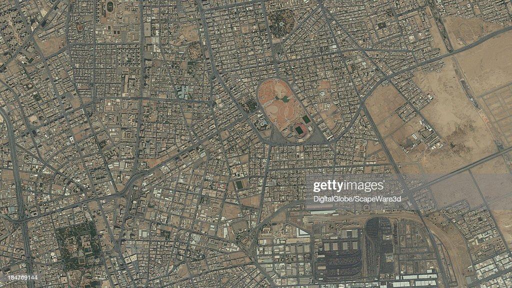 DigitalGlobe Satellite Imagery of the al-Melez district, Riyadh, Saudi Arabia.