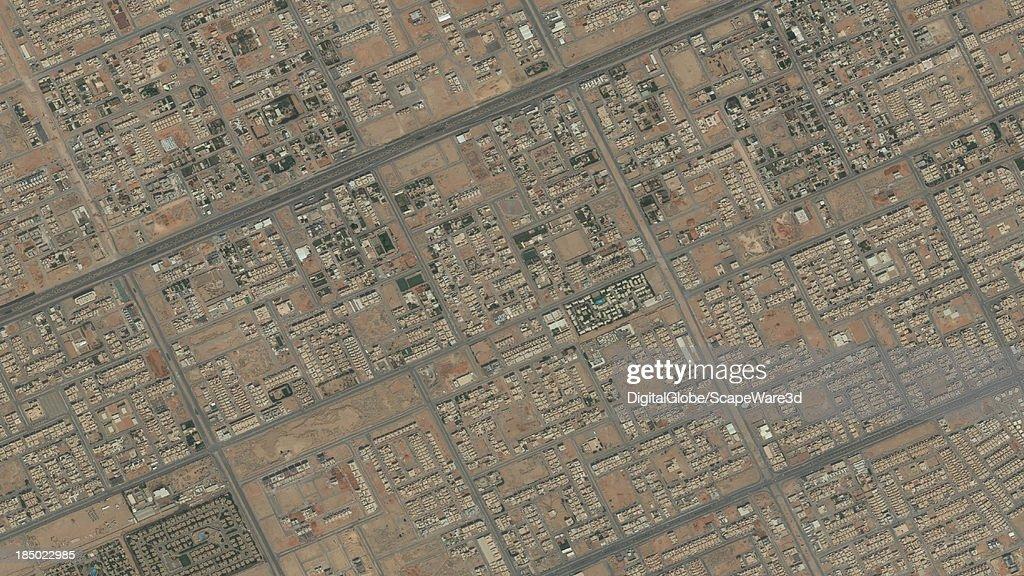 DigitalGlobe Satellite Imagery of the al-Yarmouk district, Riyadh, Saudi Arabia.