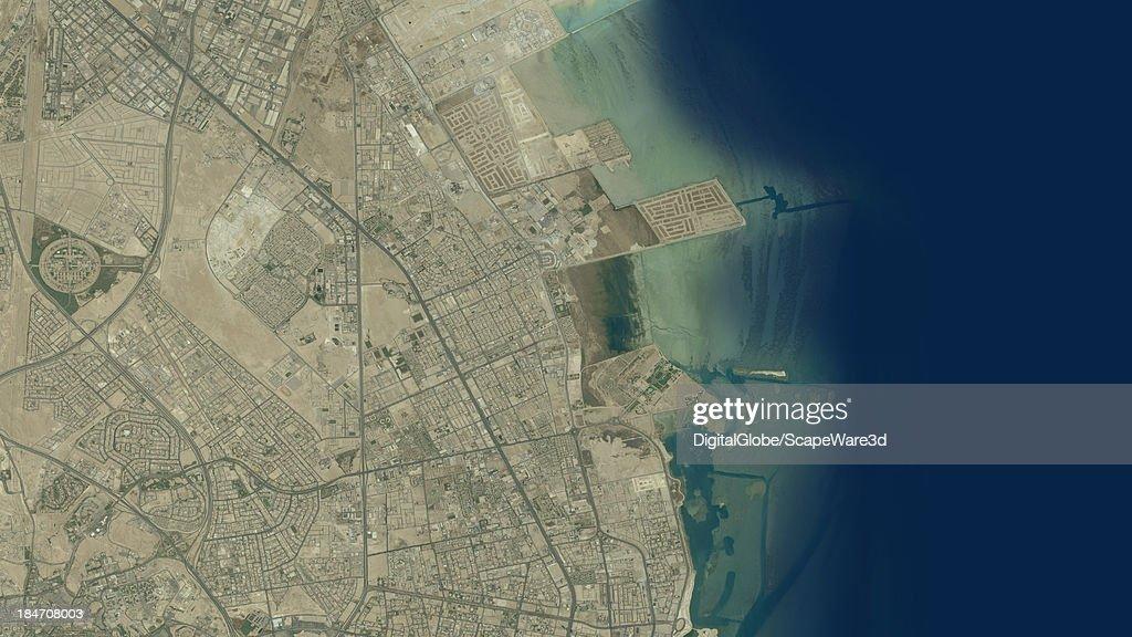 DigitalGlobe Satellite Imagery of the Apicorp Company HQ, Khobar, Saudi Arabia.