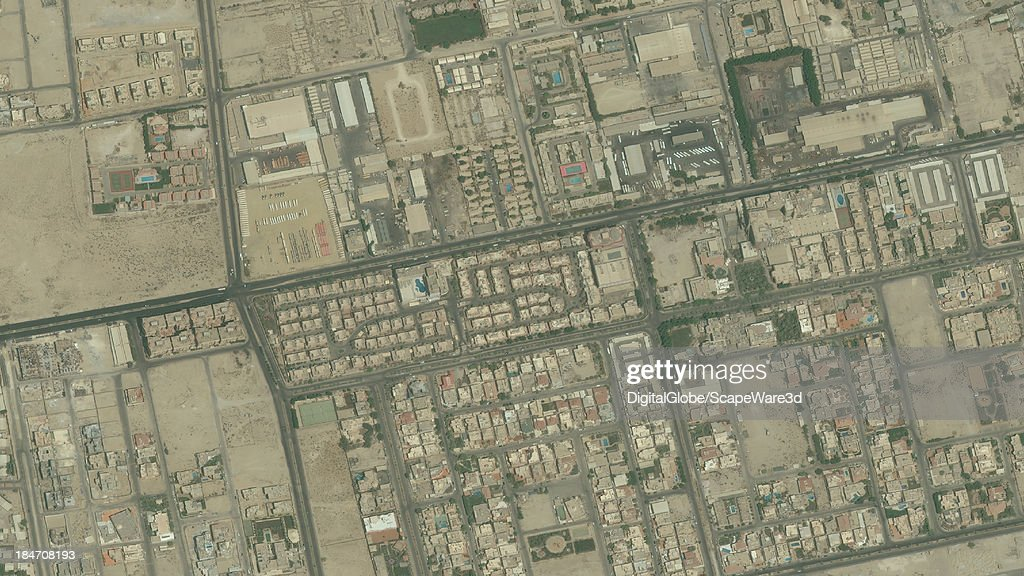 DigitalGlobe Satellite Imagery of the Oasis Compound, Khobar, Saudi Arabia.