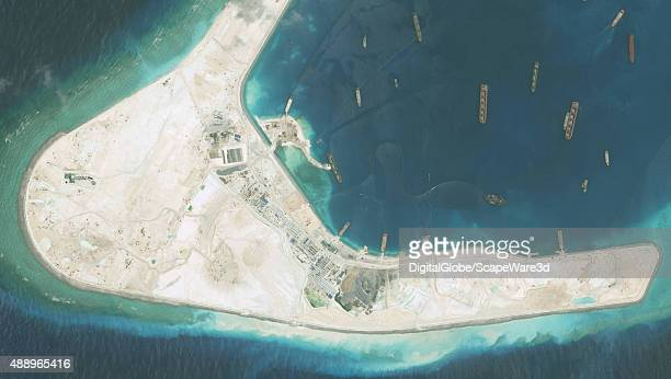 DigitalGlobe highresolution imagery of the Subi Reef in the South China Sea a part of the Spratly Islands group Image progression Photo DigitalGlobe...