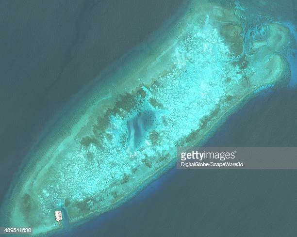 DigitalGlobe imagery before construction began of the the Fiery Cross Reef located in the South China Sea Fiery Cross is located in the western part...