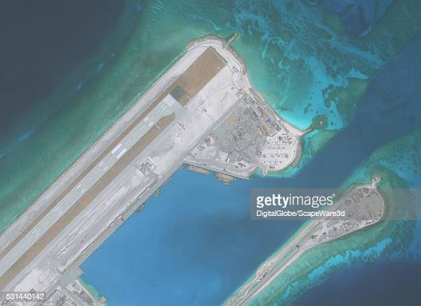 DigitalGlobe imagery of the Fiery Cross Reef located in the South China Sea Fiery Cross is located in the western part of the Spratly Islands group...