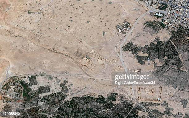DigitalGlobe imagery of the Palmyra ruins collected on May 28th 2015 A week after the town of Palmyra was captured by ISIS fighters An oasis in the...