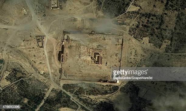 DigitalGlobe imagery of the Palmyra ruins collected on June 4th 2015 An oasis in the Syrian desert northeast of Damascus Palmyra contains the...